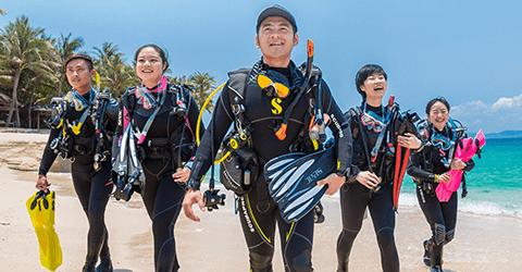 PADI Divemaster diving Internship